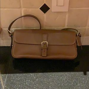 Coach light brown leather bag
